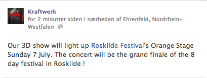 Kraftwerk Roskilde Festival